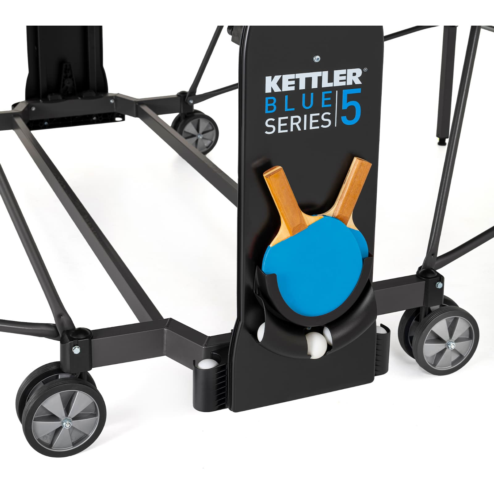 Tischtennisschläger- und Tischtennisballhalter vom Kettler Tischtennistisch Outdoor 5 Blue Series