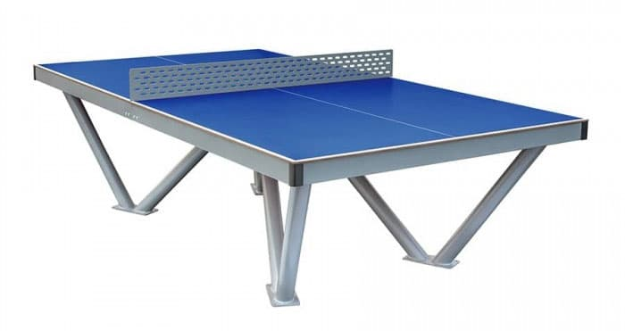 Pingo Tischtennistisch mit blauer Melaminharzplatte