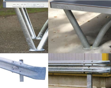 Nachteil vom Park: Beim Unterbau wird ein ähnliches Material verwendet, welches auch für Leitplanken verwendet wird. Das Material verliert seinen ursprünglichen Glanz.