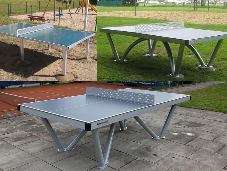 Neue Tischtennistische mit Melaminharzplatte Camping, Park und Pingo