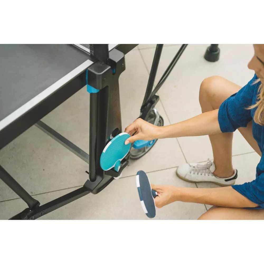 Ablage für Tischtennisschläger und Tischtennisbälle